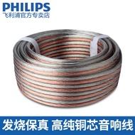 Philips/飛利浦 音響線發燒無氧銅音頻散線連接線 喇叭線 音箱線
