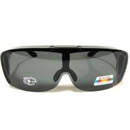 e視網眼鏡   WP2308 亮黑框  偏光運動太陽眼鏡(可掀式可內戴近視眼鏡或老花眼鏡)台灣製造檢驗合格