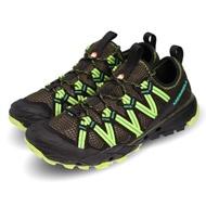 【MERRELL】兩棲鞋 Choprock 低筒 戶外運動 男鞋 登山 水陸兩用 快速排水 耐磨黃金大底 黑 綠(ML48695)