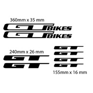 GT BIkes Decals for Frame