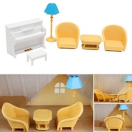Dollhouse Sofa Piano Table Miniature Furniture Sets For Sylvanian Family Accessories Kids Gift Toys
