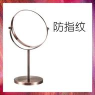 歐式高清臺式化妝鏡鏡子梳妝鏡雙面鏡公主鏡美容鏡放大桌面