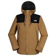 【美國 The North Face】男新款 WindWall 防風防潑透氣連帽外套.輕量機能夾克/3VTZ 卡其 N