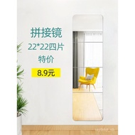 Full Body Dressing Mirror Stickers HD Wall-Mounted Cabinet Door Soft Mirror Acrylic Wallpaper Glass Wallpaper That Can B
