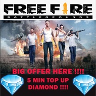 Free Fire Diamond Direct Topup Instant Top Up - (Malaysia Player)