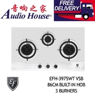 EF EFH-3975WT VSB 86CM BUILT-IN HOB 3 BURNERS