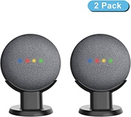 HomeMount Pedestal Mount Stand for Google Nest Mini (2nd Gen) and Google Home Mini, Perfect Cord Management for Voice Assistants, Improve Sound Visibility - Black 2 Pack