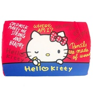 小禮堂 Hello Kitty 方形棉質枕頭 兒童枕頭 記憶枕 午睡枕 (紅藍 文字)