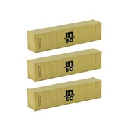 3pcs Model Trains N Scale 40' Container 1:160 40ft Shipping Container Cargo Box Cabinet C15008