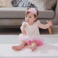 新生兒及週歲 質感送禮首選 Nana 雪紡漸層澎澎裙洋裝 含頭飾 粉紅漫遊 包含禮盒包裝 提袋 燙銀小卡片