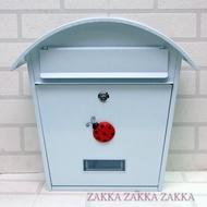 [HOME] 免運 白色信箱 瓢蟲信箱 白色圓頂信箱 瓢蟲造型段鐵信箱、意見箱