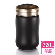 【乾唐軒活瓷】快樂隨身杯 / 黑 / 小 / 單層