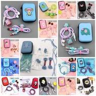 (出清不補)DIY卡通方收納保護組蘋果充電線保護彈簧繩/耳機充電線保護繩