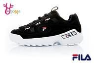 FILA D-FORMATION 鋸齒鞋 韓版 成人女款 復古老爹鞋 厚底運動鞋 D9925#黑白◆OSOME奧森鞋業