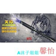 【性致蕩漾】黑鷹-X10 五檔超強光照明 耐敲打 可伸縮 高壓強光手電筒 A沫子@