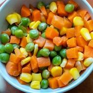 冷凍三色豆 1kg/包 玉米粒/青豆仁/紅蘿蔔丁 【金龍生鮮肉品】