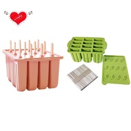 Popsicle Molds Silicone Popsicle Molds Easy-Release Popsicle Maker Molds Homemade Popsicle(Pink)