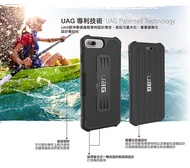 美國UAG 翻蓋式耐衝擊保護殻 手機皮套 iphone7/iphone 8 iphone6s 掀蓋防摔防撞 卡片收納(黑色)