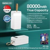 REMAX 80000 / 60000 / 50000mAh Fast Charging Power Bank & RPP-255 10000mAh powerbank