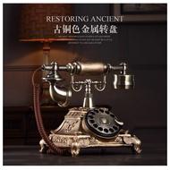 【吉米貝爾】代購 轉盤式 復古古典電話機 仿古電話機 歐式電話機