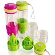 3合1多功能玻璃榨汁隨手瓶 檸檬杯(買一送一)