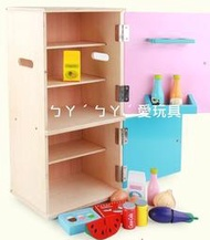 ㄅㄚˊㄅㄚˊ愛玩具, (特價商品)幼樂比木製冰箱/冰箱玩具/木製玩具