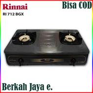PROMO RINNAI 712BGX Kompor Gas 2 Tungku ( Api Tornado BODY JUMBO )