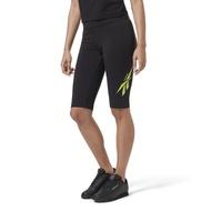 REEBOK CLASSICS VECTOR TIGHT SHORT 女裝 短褲 緊身 慢跑 健身 黑【運動世界】ED3856