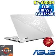 ASUS ROG Zephyrus G14 GA401IU-0192D4800HS 月光白 (AMD R7-4800HS/16G/GTX1660Ti-6G/1TB PCIe SSD