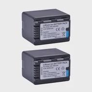 2Pcs VW-VBK360 VBK360แบตเตอรี่สำหรับPanasonic HC-V10, HC-V100, HC-V100M, HC-V500, HC-V500M, HC-V700, HC-V700M, HDC-HS60, HDC-HS80