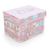 大賀屋 日貨 美樂蒂 可折式 掀蓋式 收納箱 收納包 收納籃 玩具箱 三麗鷗 melody 正版 L00011292