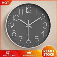 Ba พลาสติก Mute Wall CLOCK นาฬิกาแฟชั่นห้องนั่งเล่นสเตอริโอตาชั่งดิจิตอลนาฬิกานาฬิกาขายส่ง 12 นิ้ว 30 ซม.[คลังสินค้าพร้อม -คุณภาพสูง]