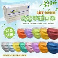 【豐生銳】成人醫療級平面口罩 任選12盒(50片/盒)