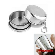 [freegangsha ] Mini Stainless Steel Portable Outdoor Travel Folding Collapsible Cup Telescopic MNp