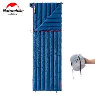 NaturehikeอัพเกรดSleeping Bag Ultralight CWM400/CW280 Goose DownซองจดหมายชนิดถุงนอนCamping 800FPกลางแจ้งMini Warm