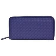 【BOTTEGA VENETA 寶緹嘉】經典羊皮編織長夾(寶藍色114076-BLUE)