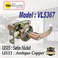 YALE VL5367 US15 US11 LEVER DOOR LOCK/ YALE ROOM HANDLE/ YALE / ROOM LOCK