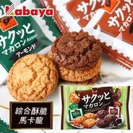 日本 Kabaya 卡巴 綜合酥脆馬卡龍(可可&杏仁) 151.2g 馬卡龍餅 綜合餅乾 巧克力餅 杏仁餅 餅乾【N600136】
