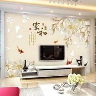 牆紙 3d電視背景牆壁紙客廳5d立體壁畫影視牆布裝飾8d現代簡約牆紙大氣