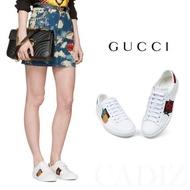 預購 義大利正品 GUCCI Ace embroidered sneaker 休閒白色皮革刺繡鳳梨水晶板鞋 431920
