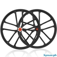 Folding BMX Bike Disc Brake Wheel Set 20 Inch 406 Bicycle Cassette Wheels Magnesium Alloy Integrated Wheelset Rims