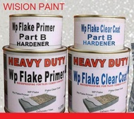 1 set flake Coating /  DIY WATERPROOFING FOR FLAKE COLOUR ( 1L WP EPOXY  Primer + 1L WP EPOXY Clear Coat  ONLY)
