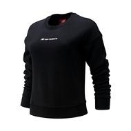 【NEW BALANCE】NB 霓虹系列單袖LOGO衛衣 女裝 黑 上衣 -AWT93509BK