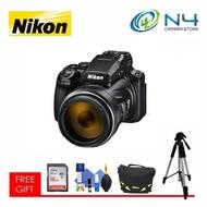 Nikon Coolpix P1000 + 16GB SD Card + Cleaning Kit + Nikon Bag + Tripod (Original Nikon Warranty)