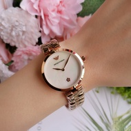 EMPORIO ARMANI watch rose gold girls watch simple without scale small dial fashion women's watch