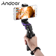 Andoer Tripod Dudukan Ponsel Mini, Penstabil Genggam Universal dengan Klip Ponsel Braket Pemegang untuk iPhone 7 Plus/7/6/6 Plus/6S/UNTUK Samsung Galaxy S7/S6