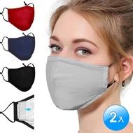 【活力揚邑】重覆用PM2.5防塵霾濾芯式立體棉布口罩2入