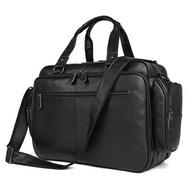 手提包真皮公事包-黑色牛皮16吋多隔層男包包73ur50【獨家進口】【米蘭精品】