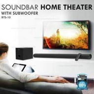 REMAX Bluetooth Speaker ลำโพงบลูทูธ Soundbar Home Theater RTS-10(Black)