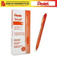 PENTEL BK420 Wow Ball Pen 1.0mm Orange 12pcs/bx